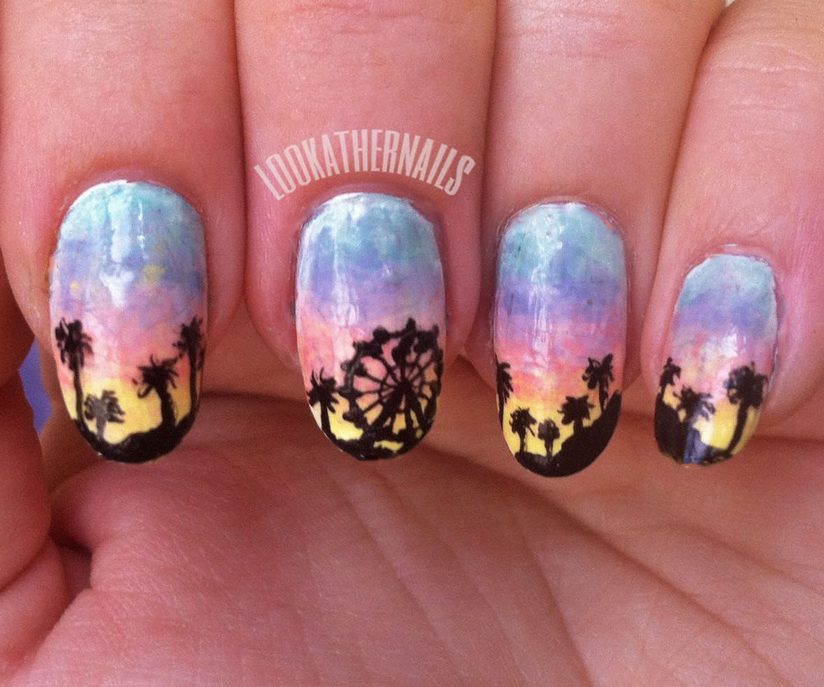 Coachella Ferris Wheel Nail Art
