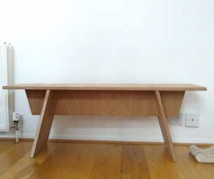 Modern Plywood Bench From One Sheet of Scrap!