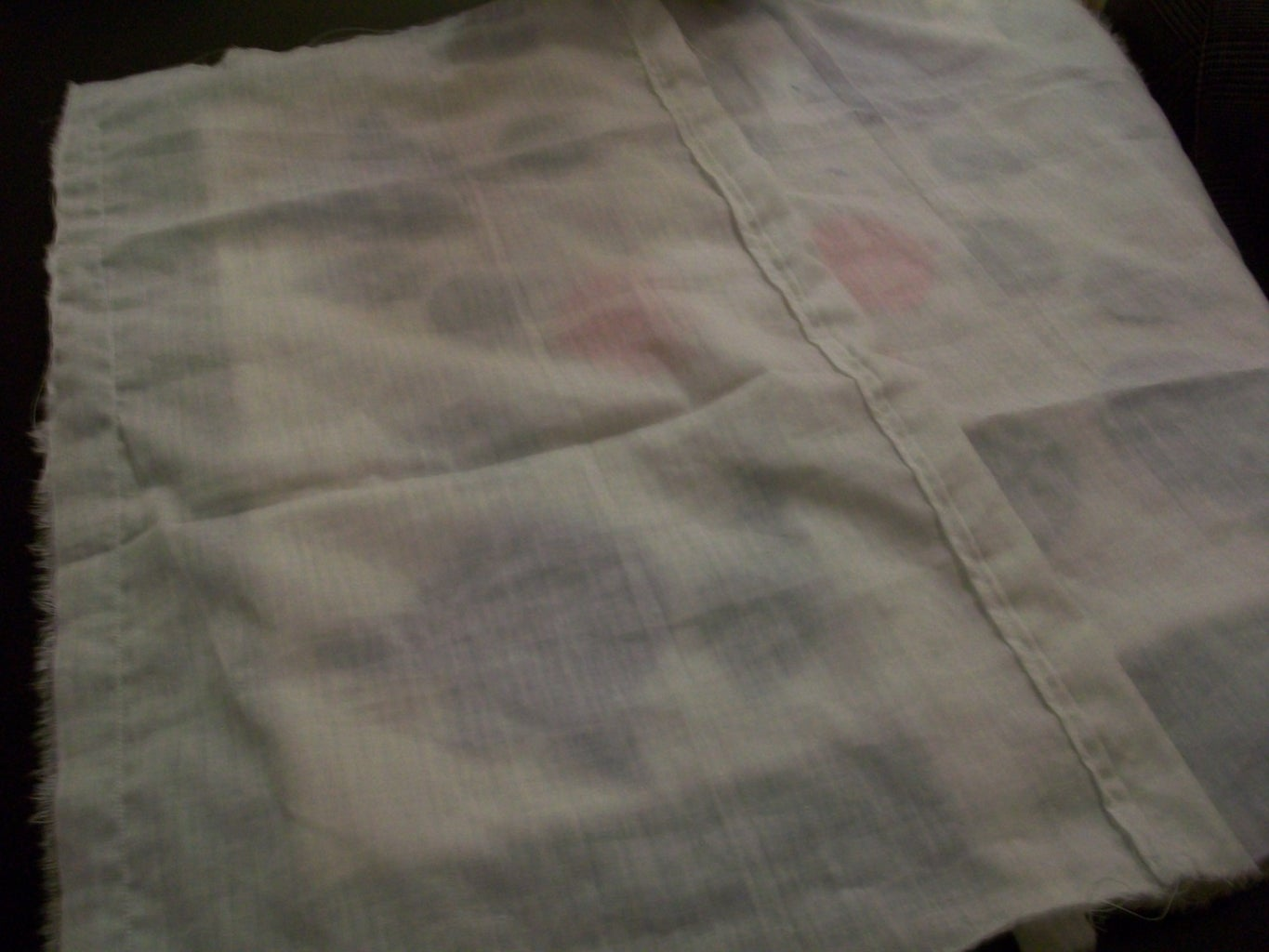 Step 11 - Cutting and Sewing the Back of the Cushion