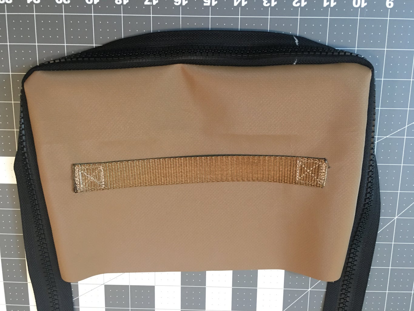 Sewing on the Zipper to the Top: