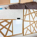 DIY Geometric Painted Cork Board