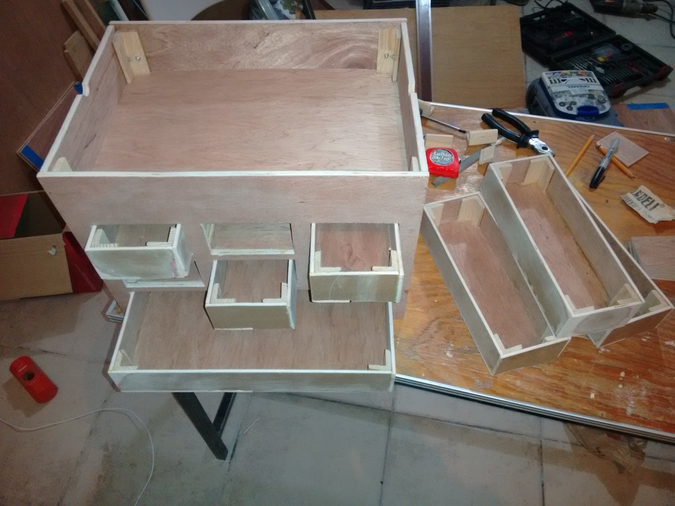 Lower Drawer Construction