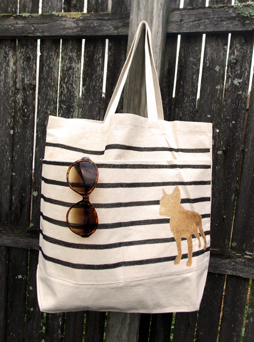Painted Striped Reusable Bag