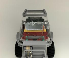 Servo Winch Challenge! Micro:bit Car & IPad (IPhone) for Conquering Gravity