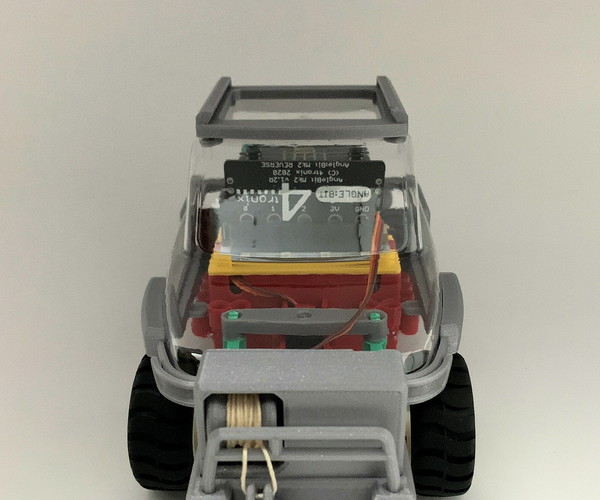 Servo Winch Challenge! Conquering Gravity by Micro:bit Car With IPad (IPhone)