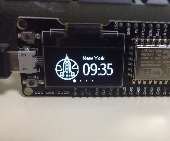 D-duino World Clock Test(Arduino&ESP8266)