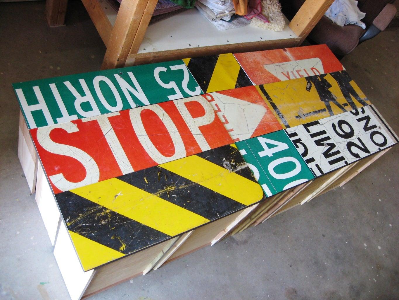 Cut and Arrange Sign Pieces