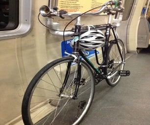 像老板一样的骑自行车上的巴特上演