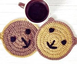 Crochet Teddy Bear Coaster