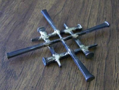 Cut Nail Jerusalem Pectoral or Wall Cross