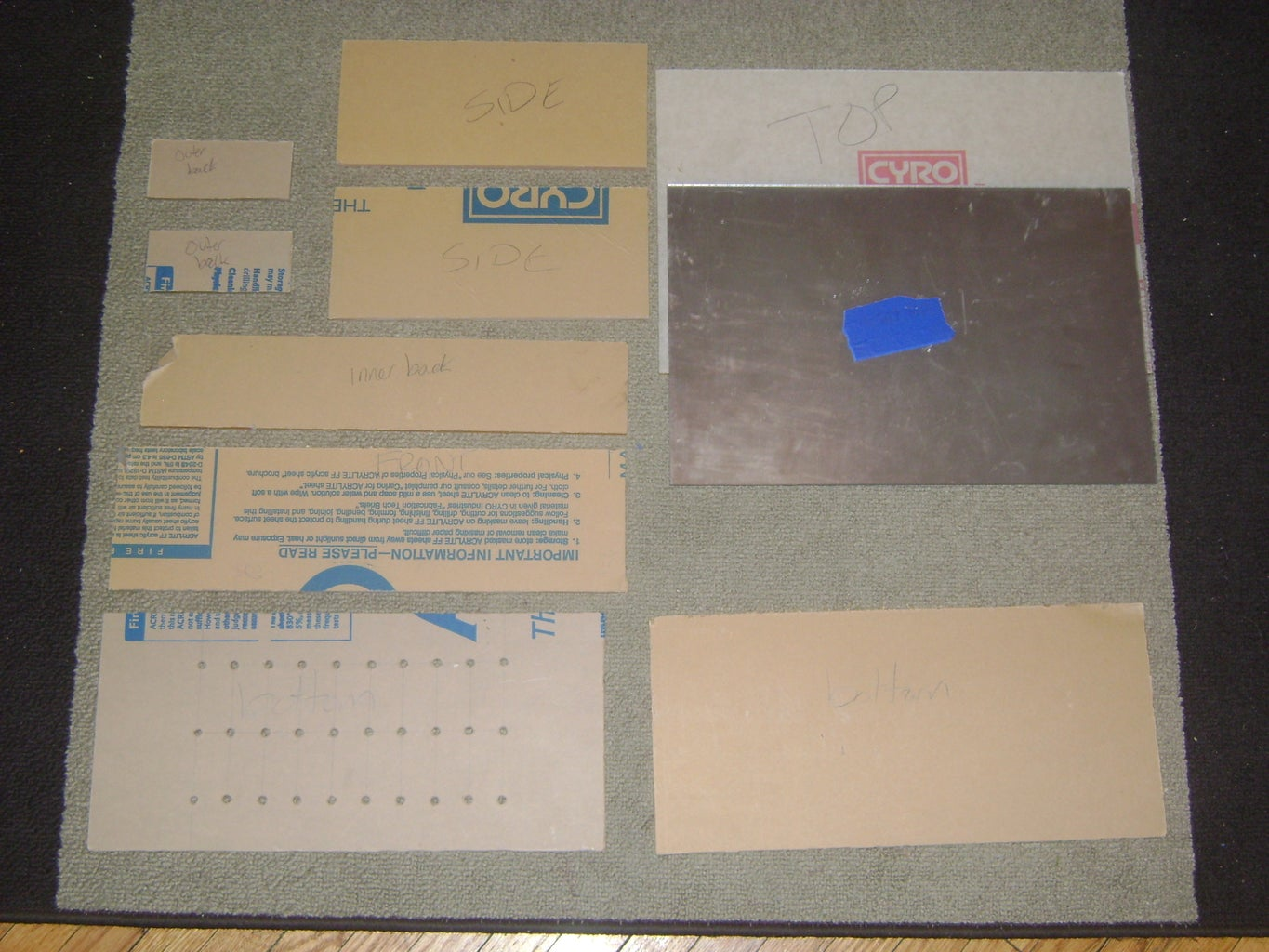 Plexiglass and Other Materials