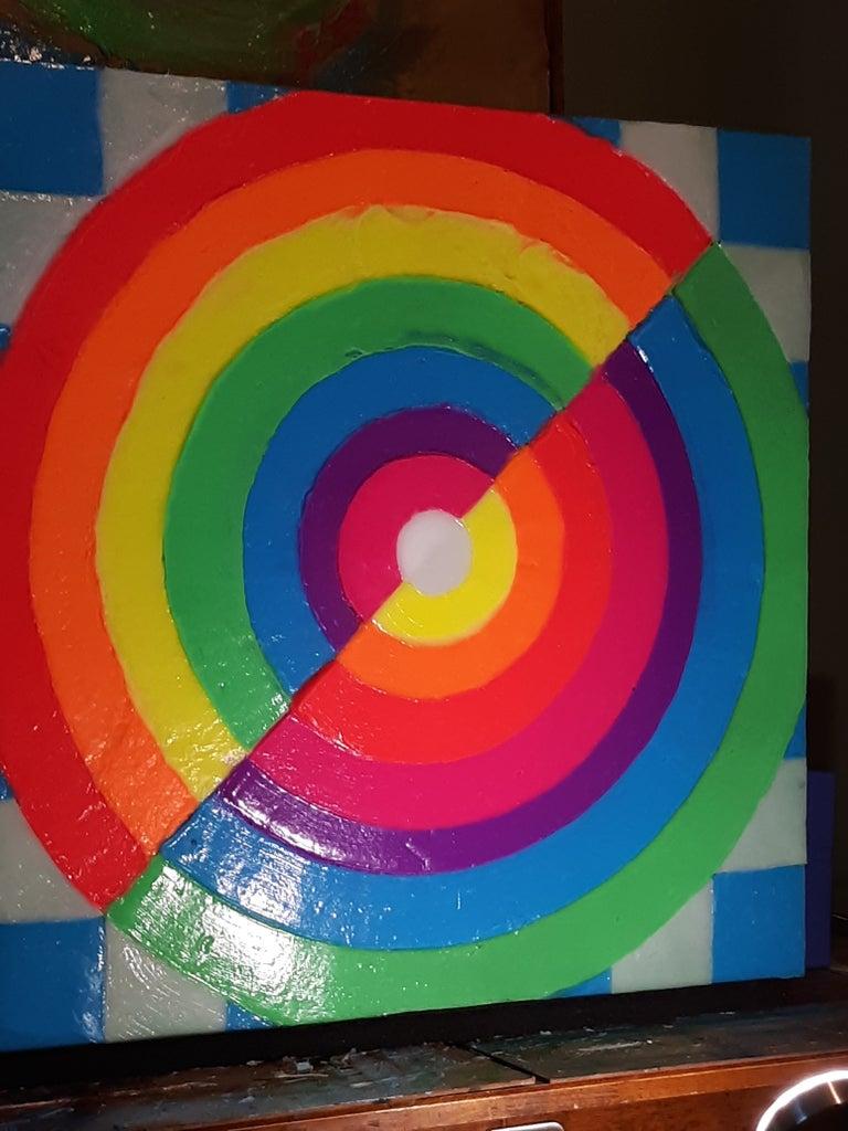 Create Glow Rainbow