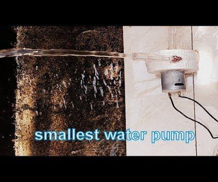 Smallest Solar Powered Dc Motor Water Pump