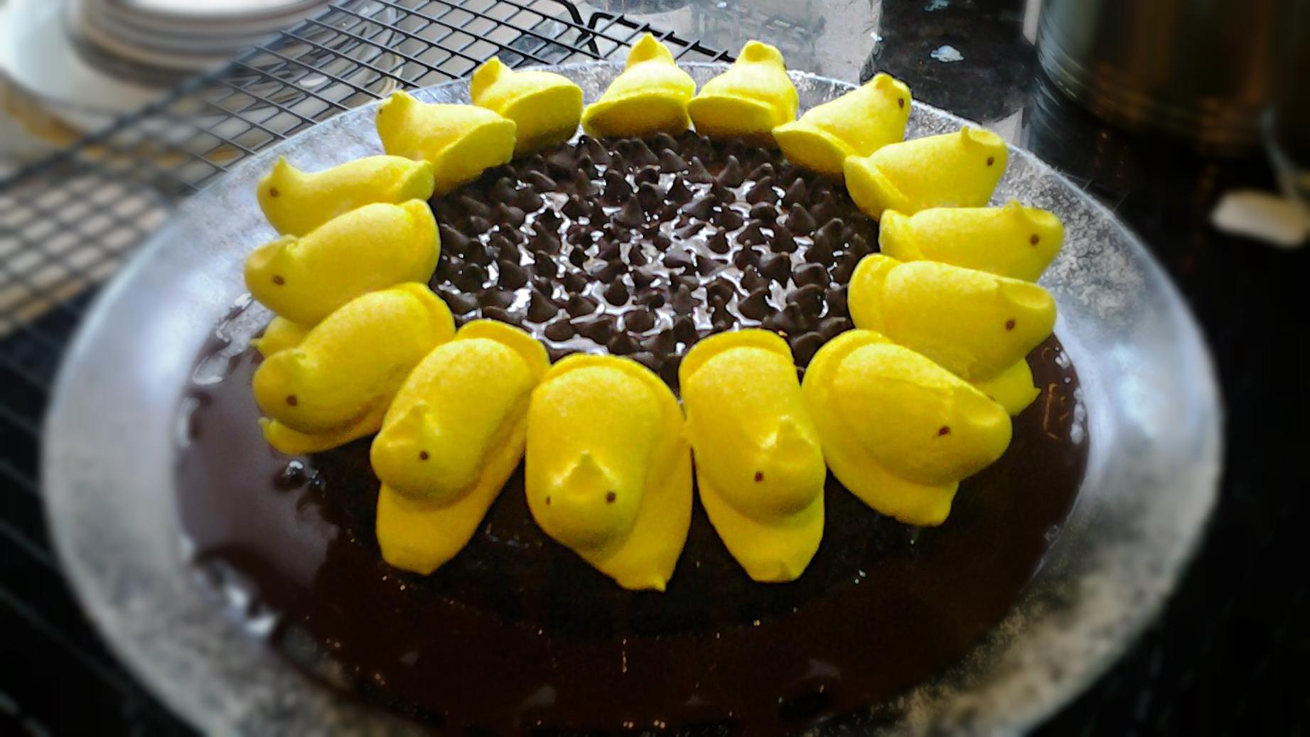 Peeps Sunflower Cake   Josh Pan