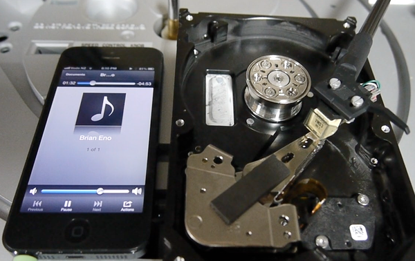 Using a Hard Drive to Cut a Record