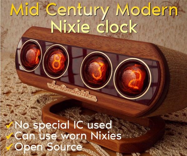 Mid Century Modern Nixie Clock