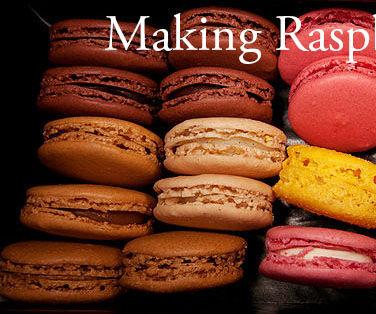 Making Raspberry Macarons
