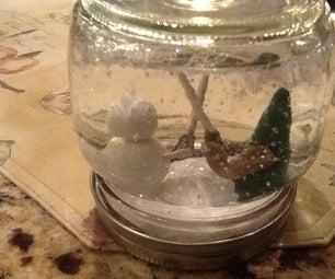 DIY Polymer Clay Snow Globes!