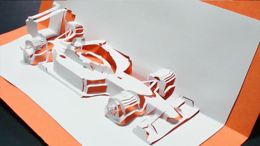 How to make a Race Car Pop Up Card (Kirigami 3D) Greeting Card DIY Formula 1 - TCGames [HD]!