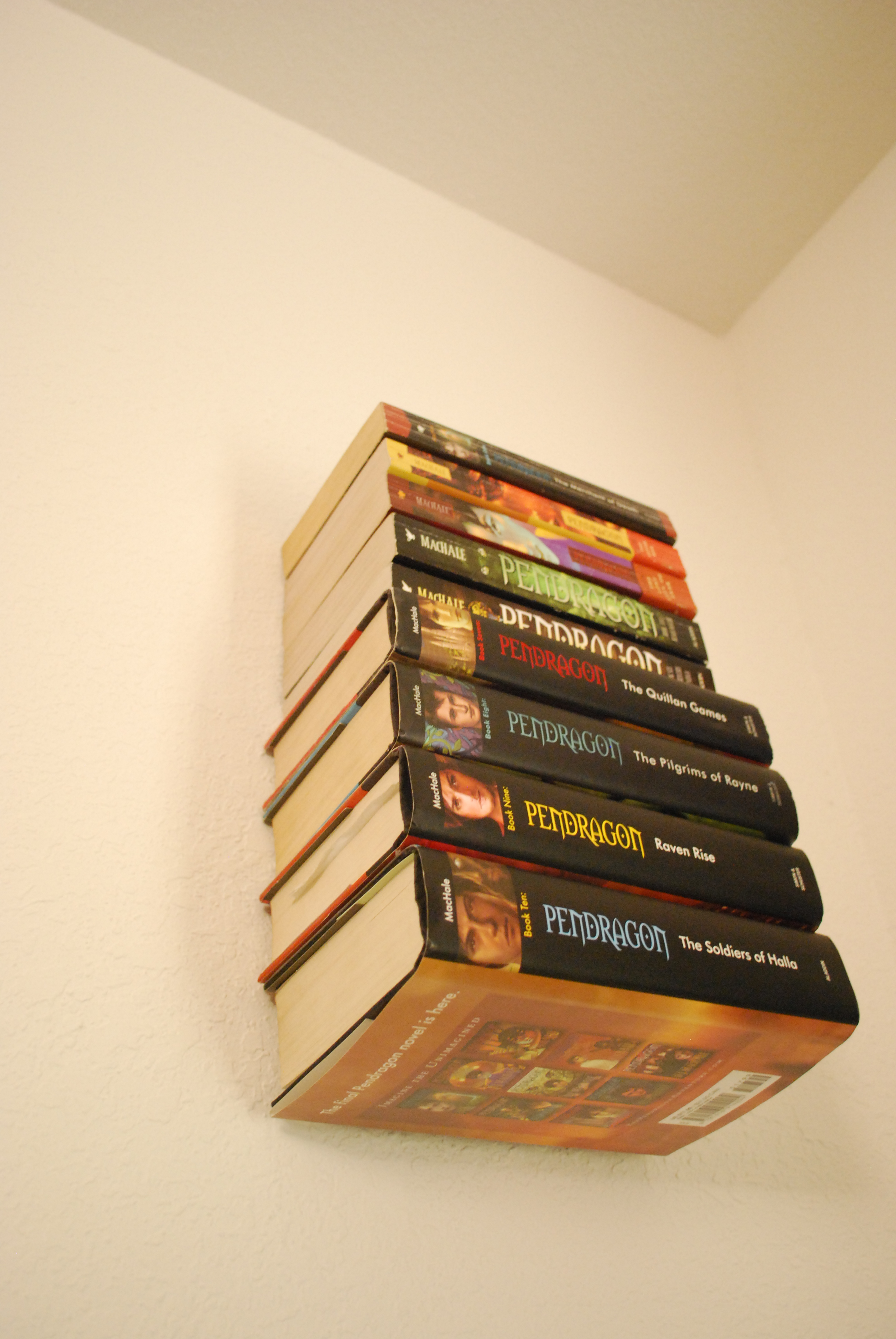 How To Make An Invisible Bookshelf (Without Ruining A Book!)