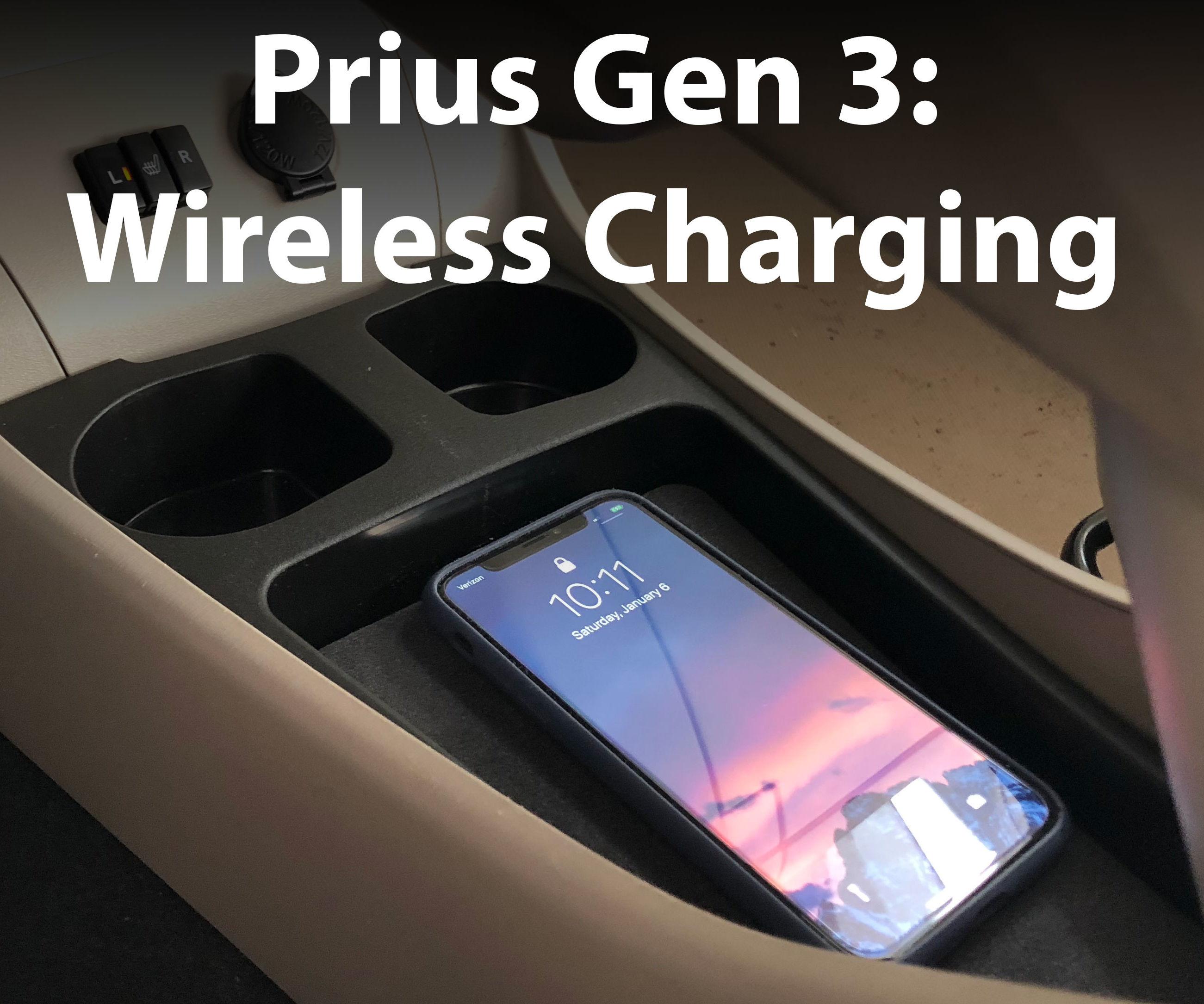 Toyota Prius Gen 3  - Qi Wireless Charging