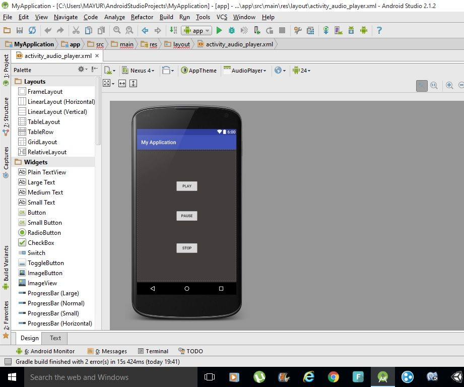HOW TO MAKE A SIMPLE MUSIC PLAYER APP FOR ANDROID USING ANDROID STUDIO.