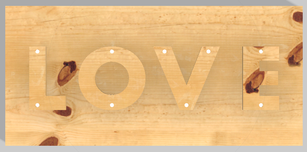 Sign 4: Internal Light Source Against a Protruded Object (LOVE)