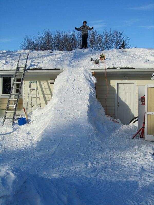 Giant Snow Ramp