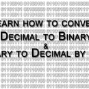 Convert Decimal to Binary and Vice Versa