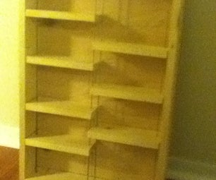 $30 Adjustable Shelf Display Case