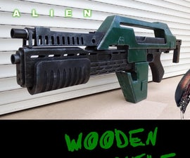 Wooden Pulse Rifle From Aliens