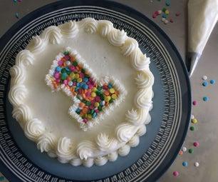 简单的奶油生日蛋糕!