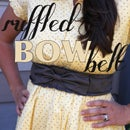 Ruffled Bow Belt