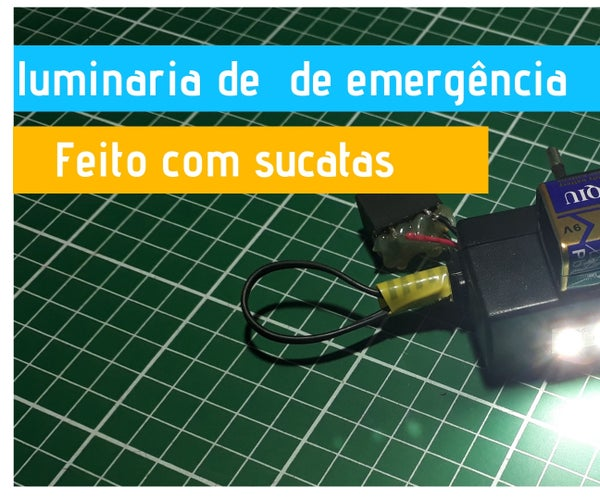 Emergency Light Design With Recycled Materials Led