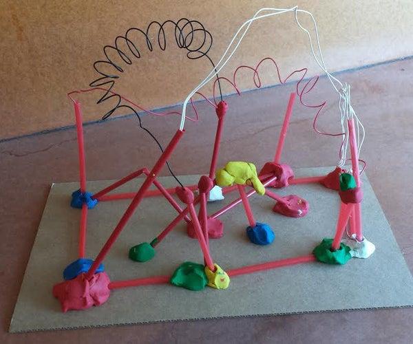 Wire Explorations a La Asawa - 1st Grade Tinkering - Week 6