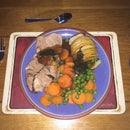 Concertina Potatoes and Butterflied Lamb