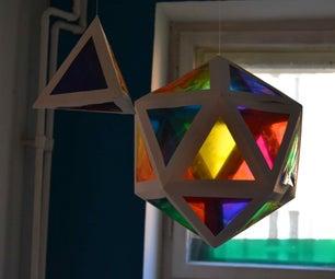 CMY Paper Platonic Solids
