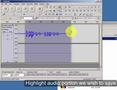 Save Selected Recording