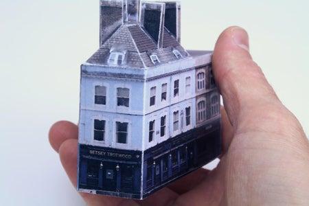 Betsey Trotwood Pub, Paper Model