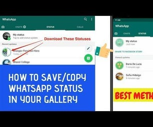 HOW TO SAVE WHATSAPP STATUS/STORIES IN GALLERY