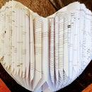 Paper Book Heart Decoration