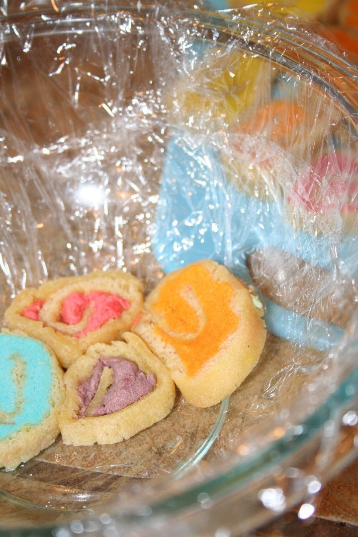 Assemble the Spiral Cakes in the Bowl.