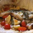 Almost Barbecued Fish & Mixed Veggies