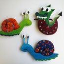 Snail and dragon clocks