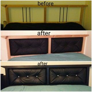 Ikea Hack! (sorta) Upholstered Headboard on the DALSELV Bed Frame