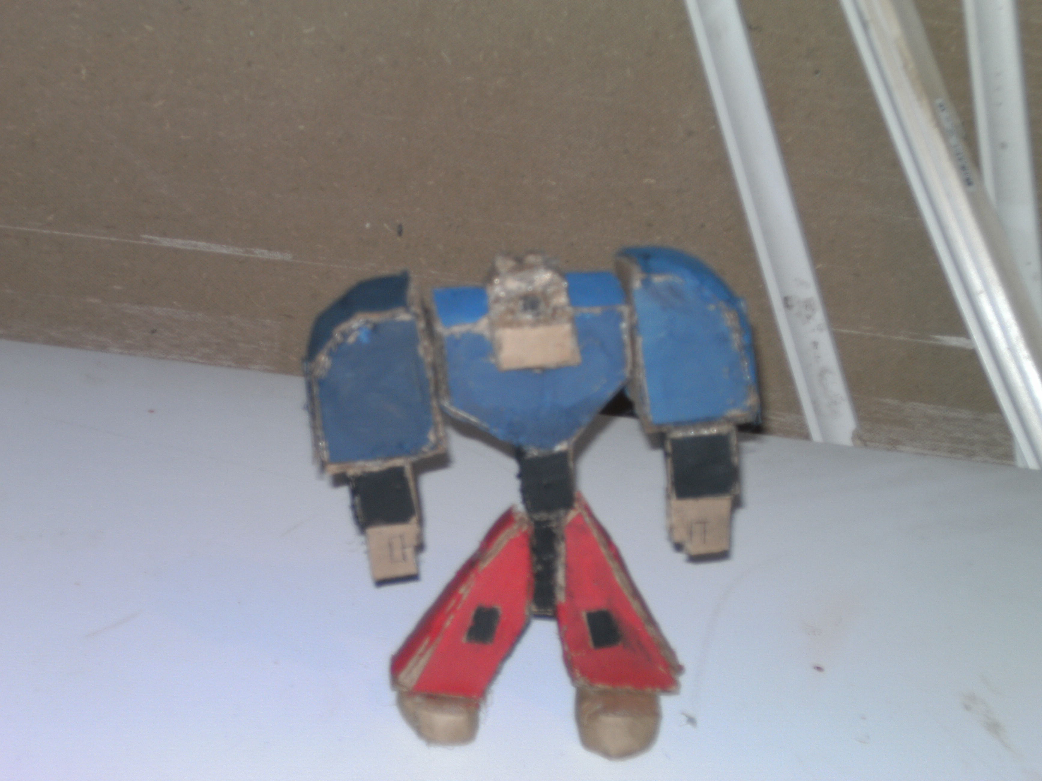 how to build a cardboard action figure
