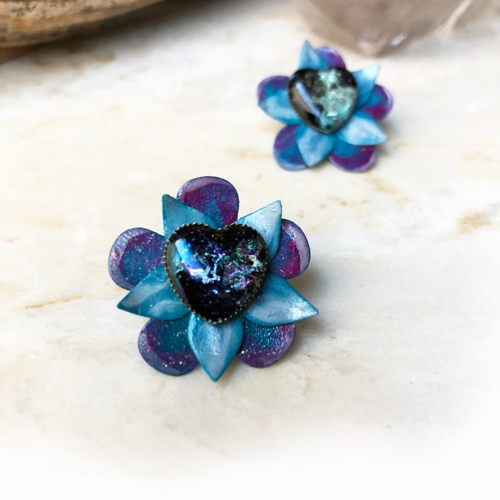 Beautiful Mother's Day Flower Earring Jackets for Post Earrings