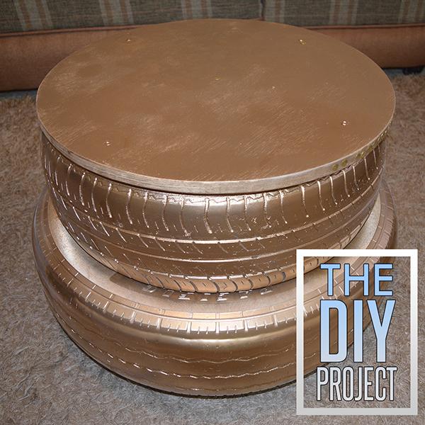 DIY Golden Tire Table