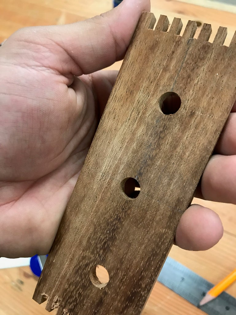 Drill Holes and Insert Connectors