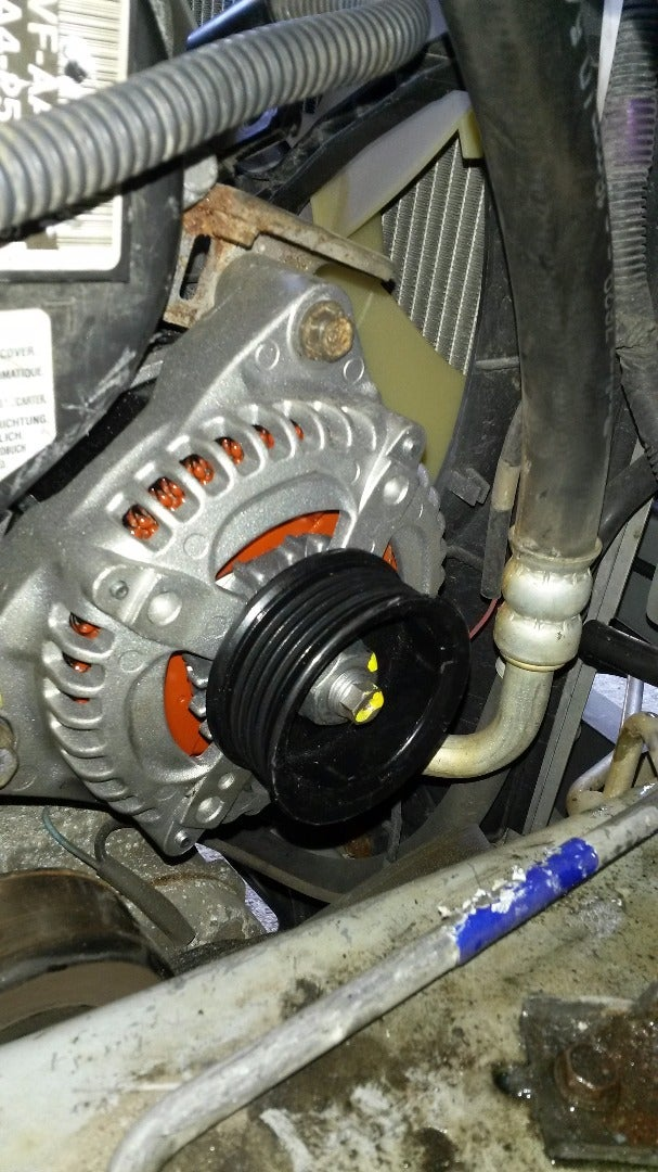 Installing/ Getting the Alternator Into Place